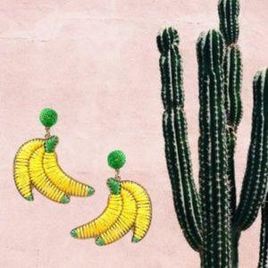 Woven Banana Dangle Earrings
